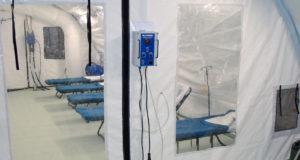 Interior of a BLU-MED Mobile Field Hospital.